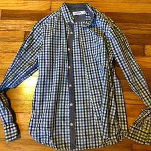 Men's blue and green button up from Nautica